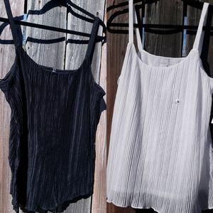 New York & Company White/Black Cami 3/$30